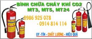 Báo giá bình chữa cháy khí co2 MT3, MT5, MT24