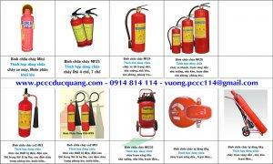 Các loại bình chữa cháy xách tay