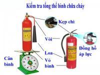 Tiêu chuẩn kiểm tra và bảo dưởng bình PCCC